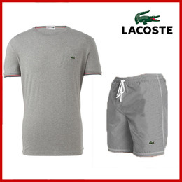 7418cd99848 2019 Top quality S-3XL Lacoste Tracksuit for Men Summer Casual Short Sport  Tracksuit Men s Outfit Suit Fashion T-shirt and Shorts 4