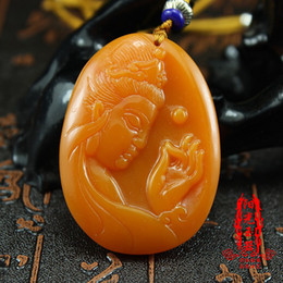 Male Chain Models Australia - Free shipping Huanglong jade Guanyin pendant male models New pit jade jade pendant Buddha pendant men's necklace