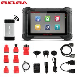 Oil Adapter Australia - EUCLEIA S8M OBD2 Professional Diagnostic Tool OBD Full System Automotive Scanner with OBD Adapter Oil TPA BMS DPF EPB Reset
