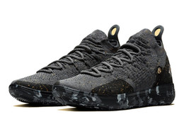 shoes new zoom kd Canada - Kids KD 11 Gold Splatter championship shoes Hot sales Top Quality new Kevin Durant 11 Basketball shoes free shipping US4-US12