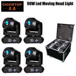 Moving Head Case Australia - 4IN1 Road Case Pack 90W Spot LED Moving Head Beam Light 90-Watt Tyanshine White Lamp DMX512 Control For Stage Light Disco