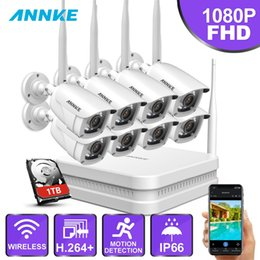 Chinese  ANNKE 1080P FHD 8CH 8Pcs Wireless WIFI NVR Kit IP66 Indoor Outdoor IR H.264 App Security Camera WIFI CCTV System Surveillance manufacturers