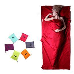 Indoor Sleeping Bag Internal Bladder Hotel Septum Envelope Ultra Light Travel Portable Multi Color 23wt2 f1