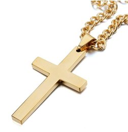 $enCountryForm.capitalKeyWord Australia - new fashion Man Pendant necklace Hip Hop Gold silver cross Pendant Jewelry mens necklacewith iced out chains alloy plated golden jewelry