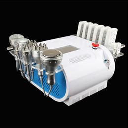 ultrasonic cavitation equipment ce 2019 - High Quality 40k Ultrasonic liposuction Cavitation 8 Pads LLLT lipo Laser Slimming Machine Vacuum RF Skin Care Salon Spa