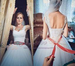 $enCountryForm.capitalKeyWord Australia - Gorgeous Ruffle Mermaid Plus Size Wedding Dresses Africa Tiers Beads crystal Sash Country Bridal Gown floor length Bride Dress Custom made