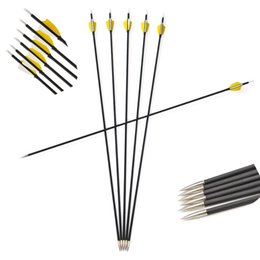 $enCountryForm.capitalKeyWord Australia - Spine 1000 Archery Carbon Arrows for Recurve Compound Bow with Fixed Point Tips Real Turkey Feather Archery Outdoor Shooting Sports For Adul