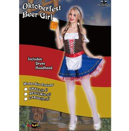 $enCountryForm.capitalKeyWord Australia - German Oktoberfest Atmosphere Maid Costume for Women Fancy Adult Halloween Cosplay Fantasia Carnival Fairy Tale S-L Girl Dress+Headband