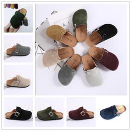 best beach sandals 2019 - Spring Summer Kids Cork Sandals with Buckle Boys Girls Antiskid PU Slipper Children Home Outdoor Beach Casual Rome Shoes
