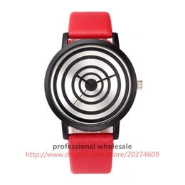 Wrist Watches Logos Australia - Item 8621fashion black circle dial pated watch no logo casual unique style peculiar leather wrist watch harajuku watches