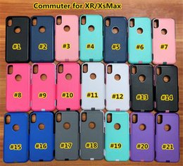 Free Cellphone Cases Australia - High Quality commuter case For iPhone XS max xr xs 8 360 Degree Cellphone Protector Commuter Shockproof Phone Case Cover With Free DHL