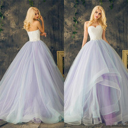 crystals layers wedding dresses NZ - Sweetheart Ball Gowns Purple Plus Size Multi Color Layers Skirt Wedding Dresses Long Crystal Beading Lace Organza Bridal Dress