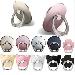Wholesale General Phone finger ring holder Degree stand for Samsung Xiaomi iPhone X S plus Smartphone Tablet plain bague