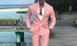 royal ball suit Australia - WL 2019 Coat Pants Designs Summer Beach Men Suits Pink Suits For Wedding Ball Slim Fit Groom Best Men Male Suit 2 Pieces