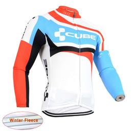 bicycle winter clothes 2019 - Ropa ciclismo Uniformes cube winter Thermal Fleece Bike Clothing long sleeve Racing bicycle shirt Mountain bike cycling