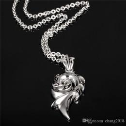 Gold Pendant Korea Australia - Man's FIRE Pendant Necklaces Casual 316L Stainless Steel Men's Sporty Jewelry Fashion Personality Korea Style Gift gjGX1026