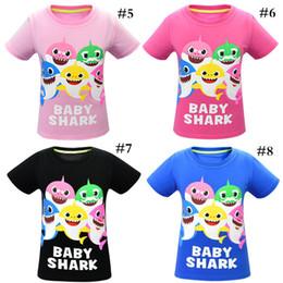 $enCountryForm.capitalKeyWord Australia - Baby Shark Cartoon Brand T-shirt Lovely Boys Girls Cotton Casual Designer t shirt Outfit Short Sleeve Crew Neck Top Tees 100-140cm C7206