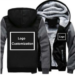 Casual Coat designs for men online shopping - 10 Color Custom Design Logo Fashion Thicken Hoodies For Man Sweatshirts Winter Streetwear Cardigan Jacket Unisex Print Mens Coat