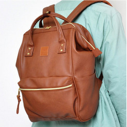 Leather Ring Backpack School Bags For Teenagers Male Anello Backpack Women  Mochila Zaino Rucksack or travel bag 037b336cc7865