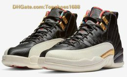 Quality Gold Years Australia - High Quality 2019 New 12s CNY Chinese New Year Men Basketball Shoes 12 CNY White Black Gold Sports Sneakers Size 40-46 With Dust Bag
