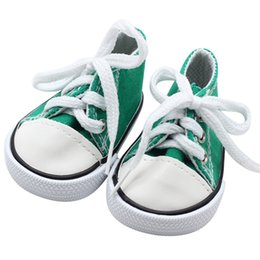 May baby  5001 2018 NEW Canvas Lace Up Sneakers Shoes For 18 inch Our  Generation American Girl Boy Doll drop shopping 6bed7244e