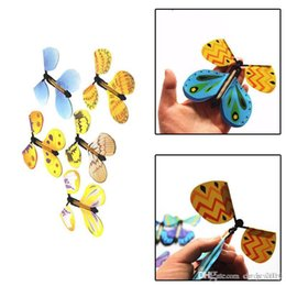 Flying Prop Toy Australia - Creative Magic Butterfly Flying Butterfly Change With Empty Hands Freedom Butterfly Magic Props Magic Tricks free shipping