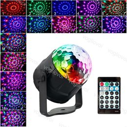 music activated laser light UK - Laser Projector RGB Stage Lighting 15 Colors DJ Disco Ball 5W Sound Activated effect Lamp Light Music Christmas KTV Party Par Light DHL