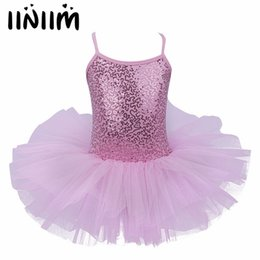 leather tutu 2019 - Children Girls Kids Newest Christmas Gift Sequins Fancy Party Costumes Cosplay Girls Ballet Tutu Dress Dancewear Leotard