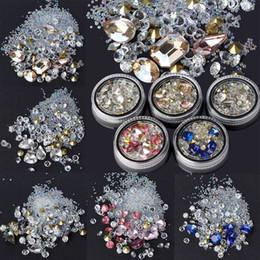 $enCountryForm.capitalKeyWord Canada - 1 Box Mixed Colorful Glass Rhinestones Micro Beads Nails 3D Decorations Women DIY Nail Art Decoration 5 Colors