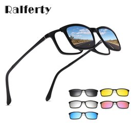prescription sunglasses women NZ - Polarized Sunglasses Men Women 5 In 1 Magnetic Clip On Glasses Tr90 Optical Prescription Eyewear Frames Eyeglass 8803