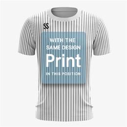 $enCountryForm.capitalKeyWord Australia - Full Sublimation Printing Tennis shirt Cheap Adult men 100% polyester fit custom compression sublimation blank t-shirt