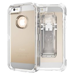 Heavy Duty Belt Clip Australia - In Stock For Iphone 6 7 8 Plus Heavy Duty TPU PC Anti Fall Shock Absorption Protective With 360 Degree Rotating Belt Clip Case