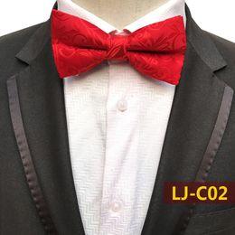 $enCountryForm.capitalKeyWord Australia - Classic Black Gold Flower Paisley Mens Tie Silk Necktie Wedding Jacquard Shirts Bowtie Adjustable Strap Good Gift for Him