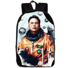 school picture UK - Elon Musk backpack Space X daypack Occupy Mars trip schoolbag Great picture print rucksack Sport school bag Outdoor day pack