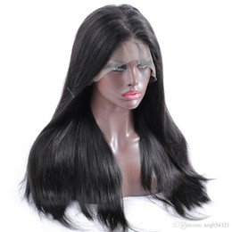 Human Hair Wig Beautiful UK - 24 Inch Silky Straight Wig Simulation Human Hair Full Straight Wigs For beautiful Women In Stock Top Quality Wholesale