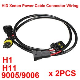 connector harness NZ - 2PCS HID Xenon Power Cable Connector Extension Line Wiring Harness Adapter Ballasts Socket Play N Plug H1 9005 9006 H11 HB3 HB4