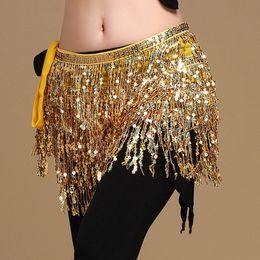$enCountryForm.capitalKeyWord Australia - New Women Belly Dance Sequins Tassel Hip Scarf Performance Dancing Multicolor Sequin Fringes Waist Belt 15 Colours