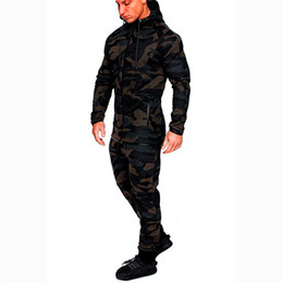 Wholesale men camouflage suit jacket for sale – designer Mens Tracksuit Print Mens Suits Stitching Jackets Mens Camouflage Suits Sportswear Sportswear Hoodies Sweatshirts Pants Jogger