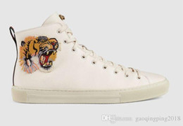 Metal Sneakers Australia - Bee Snake Dragon Tiger Head Feline Shoes Boots Drivers Moccasins Loafers Sneakers Dress Shoes Metal Feline Leather High-top With Tiger