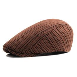 Red Berets UK - Brand Fashion British Style Summer Sun Hats for Men Women High Quality Casual Cotton Women Beret Caps Adjustable Plaid Flat Cap