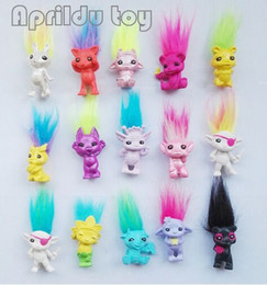 $enCountryForm.capitalKeyWord NZ - 50Pcs  Lot Mini Size Trolls Pencil Topper The Good Luck Trolls Doll Movie Roles Action Figures Model Pvc Toys Gifts For Kids