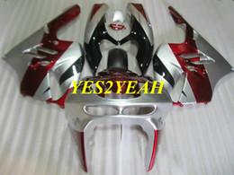 $enCountryForm.capitalKeyWord UK - Motorcycle Fairing body kit for KAWASAKI Ninja ZX9R 94 95 96 97 ZX 9R ZX-9R 1994 1997 Red silver Fairings Bodywork+gifts KG30