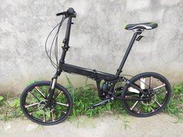 24 speed bikes NZ - Kalosse 22inch Integrated wheels Foldable full suspension mountain bike Children bike 24 speed