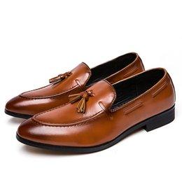fa8439e216023b Best Handmade Shoes Australia - Downton handmade Groom Leather business  shoes Tassel Casual Best Men shoes