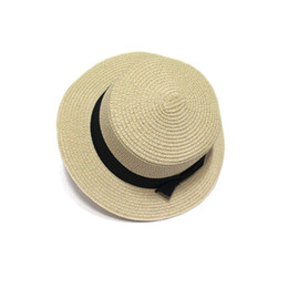 476d880ed7a461 2019 fashion new wild trend hot selling star with the straw hat small  pepper bow straw flat top hat beach hat female summer visor tide