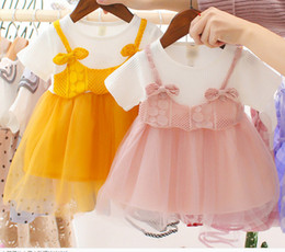$enCountryForm.capitalKeyWord Australia - 2019 Korean Style Baby Dress Summer Short-sleeved Skirt Infant Princess Dress Toddler Mesh Skirt 1-3 Years Old