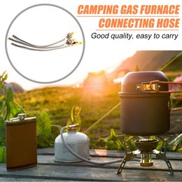 stove oil NZ - Outdoor Camping Gas Stove Adapter Braided Hose Connector for Picnic Cooking Gas Tank Cylinder Equipment Accessories
