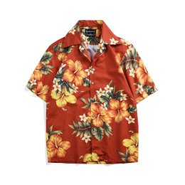 e3dafccdc980d1 2019 Floral Print Hawaiian Shirt Men Casual Tropical Holiday Beaside Beach  Shirts Summer Short Sleeve Loose Top Hombre Camise