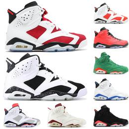 150f19eb0 Nike Air Jordan Retro 6 6s Hombres Zapatos de baloncesto Oreo Gato negro  Gatorade Tinker Hatfield Maroon Zapatillas de deporte de lujo VI Zapatos  deportivos ...
