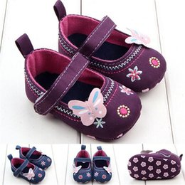 Wholesale Fashion Baby Girl First Walker Butterfly Soft Sole Toddler Shoes NDA84L16